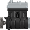 Twin-Cylinder compressor, 636 cc, flange mounted