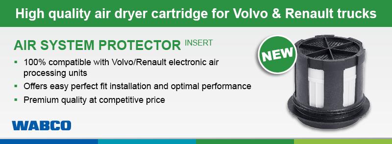 Kiváló minőségű légszárító patron Volvo és Renault Trucks számára.